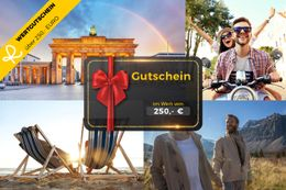 250, - € voucher for the Travelticket online store - ideal gift 001